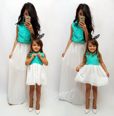 8e99b3059c3e Family Look комплект 2 платья юбка шифон мама дочка: 750 грн ...