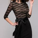 Платье G-417 с атласным поясом от Natali vmode