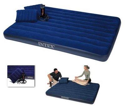 Надувной матрас Intex 68765 2 подушки насос