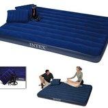 Надувной матрас Intex 2 подушки насос