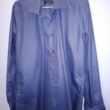 Синяя рубашка 46 размера