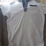 Модная футболка- поло на мальчика 10-11 лет