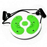 Диск здоровья, гимнастический диск, фитнес диск, с эспандерами, для похуденя, красивой фигуры