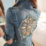 куртка женская джинсовая Хит пиджак джинсовый ветровка