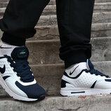 Кроссовки демисезонные Nike Air Max Zero белые с синим.