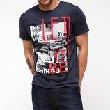 мужская футболка De Facto темно-серого цвета с картинкой
