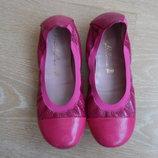 балетки туфли 20,5 см розовые девочке детские prettyBallerinas кожа
