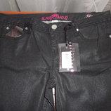 американские женские черные джинсы с блеском, зауженные
