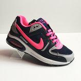 Кроссовки сетка Nike Air Max черный с розовым