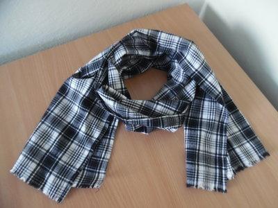 шарф черній белій клетка новій шаль