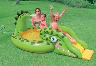 Игровой центр Intex с горкой и душем 57132 Крокодил