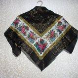 Шарф платок 77х72 см летний, нарядная косынка