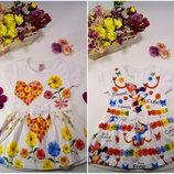Летнее платье для девочки белое производитель Турция