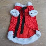 Одежда для собаки красная Дед Мороз