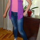 Жилетка фиолетовая на девочку подростка 11-12 лет George