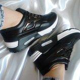Скидка Чёрные кроссовки в стиле Air Max