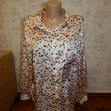 блузка атласная стильная модная р14