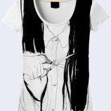 Женская футболка 3D Волосы Большой выбор