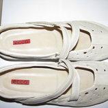 Туфлі нові брендові шкіряні дихаючі ECCO Оригінал р.40 стелька 25,5 см