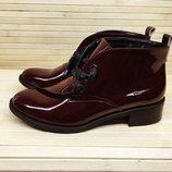 Ботинки низкий ход натуральная кожа/лак/замша р.35-41 разные цвета
