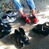 Наложенный Ботинки низкий ход натуральная кожа/лак/замша р.35-41 разные цвета