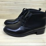 ботинки деми низкий ход на шнурках натуральная кожа/лак/замша размер 35-41