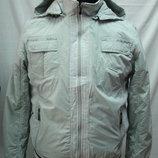 Ветровка мужская NS светло-серая с капюшоном XL, 3XL