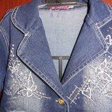 Джинсовая куртка на девочку 3-4 лет