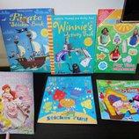 книги, журналы на английском с наклейками новое и бу, принцессы, пираты, ведьма, монстры