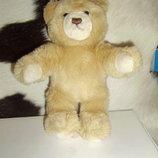 шикарная мягкая игрушка Медвежонок Мишка Штайфф Steiff Германия оригинал кнопка 22 см