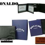 Мужской кошелек бренд Ronaldo натуральная кожа Италия
