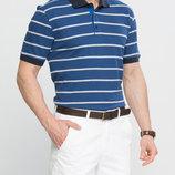 в наличии мужское поло LC Waikiki светло-синего цвета в белые полоски