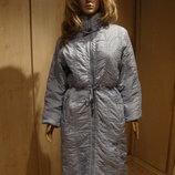 Голубое драпированное пальто Италия.