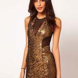 Платье Паетки Сетка от ASOS