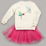 Свитшот для девочек 4 - 8 лет с вышивкой