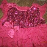 Нарядное платье - туника с паетками Bluezoo на 12-18 мес