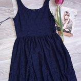 Обалденное платье FF Гипюр тянется р 8 36