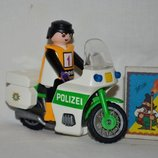 Набор полицейский мотоцикл и фигурка человечек к конструктору Playmobil Плеймобил