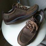 Кожаные добротные туфли Clarks 6G, 26см