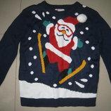 Новогодний свитер.кофта размер S 46-48р-р