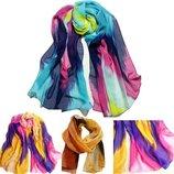 Красивый весенний шарф, платок, палантин шифон
