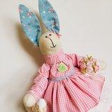 Зайка тильда Марисель игрушка для дочки сына оригинальный подарок маме подруге