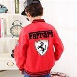 Куртка кожаная Ferrari для мальчика