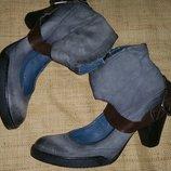 36, 40 кожа новые туфли MJUS Made in Germany на этикетке 109 евро стелька 36р- 24 см,ширина 8 см,