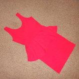 523. Эффектное мини платье с баской. Размер S