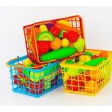Набор игрушечные продукты корзинка Большой игровой набор