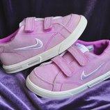 Nike р. 9,5 стелька 17 см кроссовки натуральный текстиль Индонезия