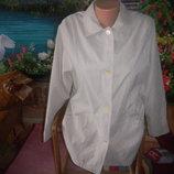кремовый плащик ,ветровка женская р 48-50, замеры