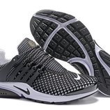 Мужские кроссовки Nike Air Presto Flyknit - черно-белые