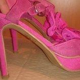 стильні рожеві босоніжки р39 Fiore